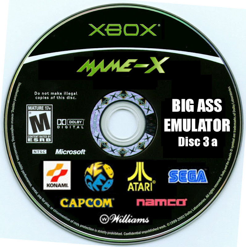 Big ass emulator disc xbox